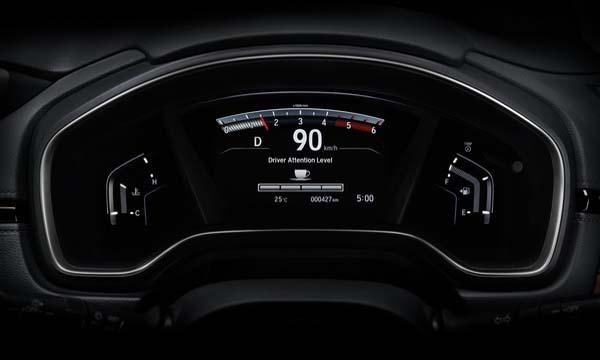 หน้าจอแสดงข้อมูลการขับขี่แบบ TFT