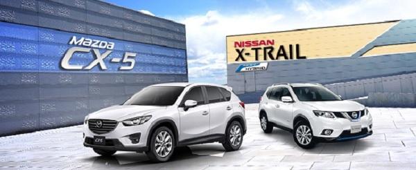 ระหว่าง Nissan X-trail 2018 กับ Mazda CX-5 2018