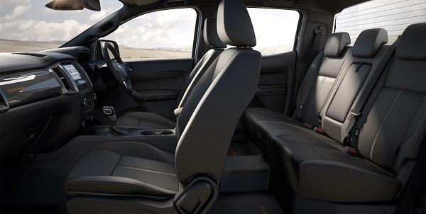 ภายในห้องโดยสารของ New Ford Ranger 2018