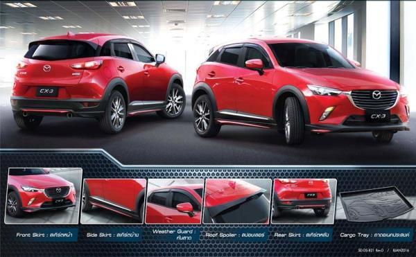 ตัวอย่างอุปกรณ์ตกแต่ง Mazda CX-3 2018