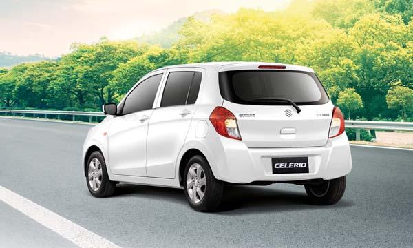 ด้านหลัง Suzuki Celerio