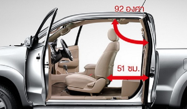 ภายในห้องโดยสารของ Toyota Vigo Champ Smart Cab 2015-2016