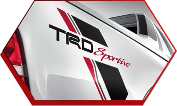 ด้านข้างติดสติ๊กเกอร์รุ่นพิเศษ TRD Sportivo