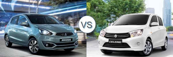 เปรียบเทียบ Mitsubishi Mirage 2018 กับคู่แข่ง  Suzuki Celerio 2018