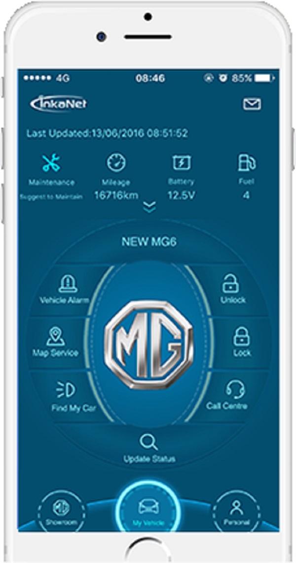 เทคโนโลยีอัจฉริยะแบบเรียลไทม์ MG car & inkaNet