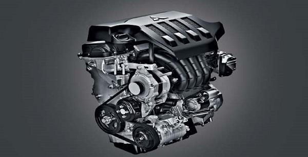 เครื่องยนต์เบนซิน DOHC MIVEC 1.5 ลิตร ให้กำลังสูงสุด 105 แรงม้า ที่ 6,000 รอบ/นาที