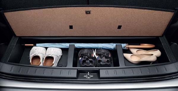 กล่องเก็บของใต้ห้องเก็บสัมภาระพร้อมฝาปิด รายละเอียดเล็กน้อยที่ออกแบบอย่างเก๋ไก๋มีไอเดีย