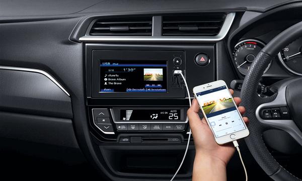 Honda BR-V รองรับการเชื่อมต่อกับสมาร์ทโฟน
