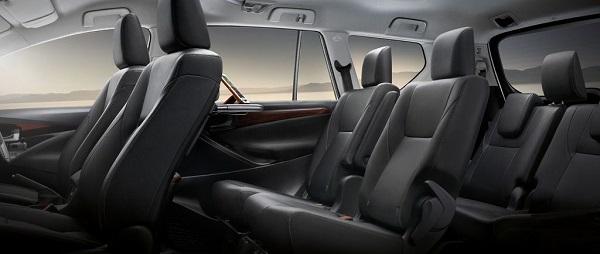 ภายในห้องโดยสาร Toyota Innova 2018 กว้างขวางนั่งสบายทุกที่นั่ง