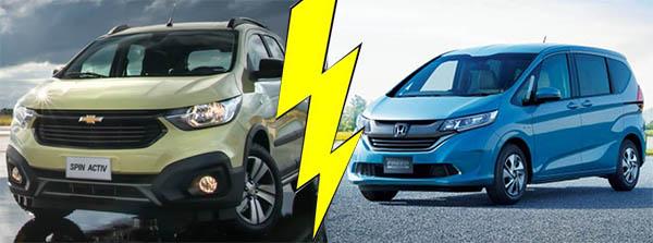 เปรียบเทียบ Mini MPV 2  รุ่น ที่ร้อนแรงในตลาดอินเตอร์กับ Chevrolet Spin 2018-2019 กับคู่แข่ง Honda Freed 2018-2019