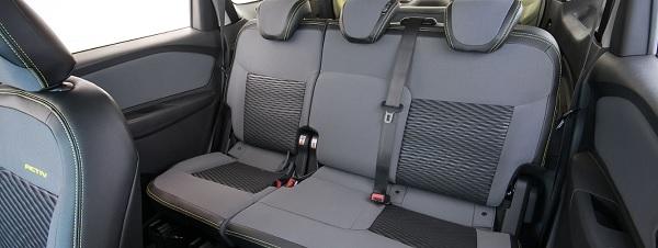 เบาะนั่งแถวที่ 2 สามารถเลื่อนไปด้นหน้าได้ 50 มิลลิเมตร ขยับไปด้านหลังได้ 60 มิลลิเมตร