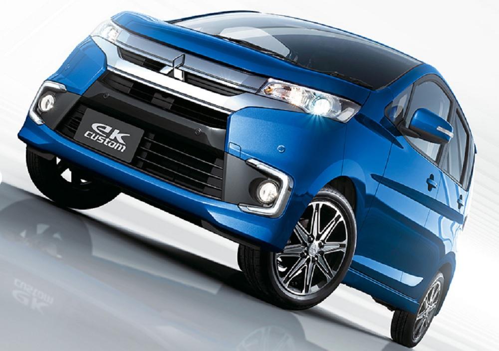 "MITSUBISHI eK CUSTOM 2019 เป็นรถยนต์ที่ได้แนวคิดในการออกแบบจาก ""Dynamic Shield"" ผลิตโดย Mitsubishi Motors"