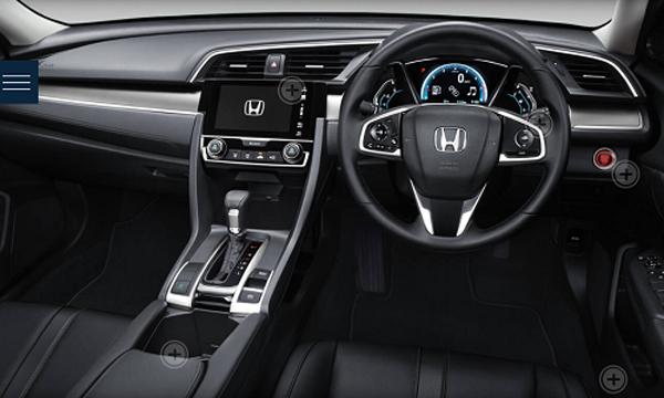 รีวิวดีไซน์ภายในของ Honda Civic