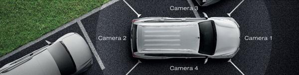 MULTIAROUND MONITOR กล้องมองภาพรอบคัน ระบบทำงานผ่านกล้อง 4 ตำแหน่งรอบตัวรถ