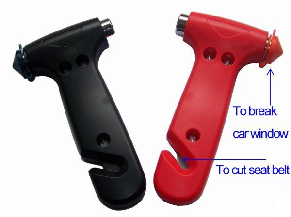 ค้อนทุบกระจกรถยนต์ที่สามารถใช้งานได้ในยามฉุกเฉิน