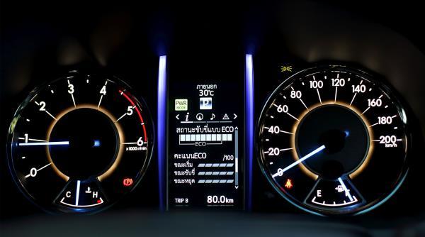 การแสดงสถานะหากออกซิเจนเซนเซอร์มีปัญหาบนหน้าปัดของรถยนต์