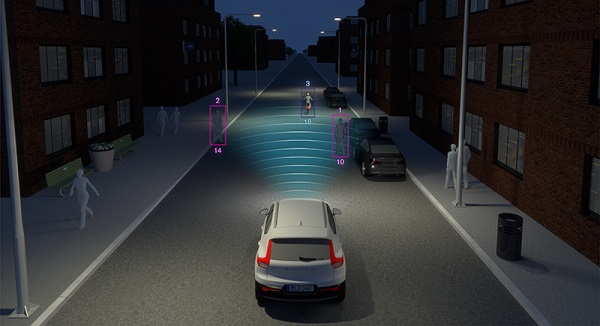 ระบบแจ้งเตือนเพื่อให้เว้นระยะห่างจากคันหน้า Distance Alert ใน Volvo XC40 2019