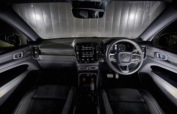 มิติภายในสำหรับ Volvo XC40 2019