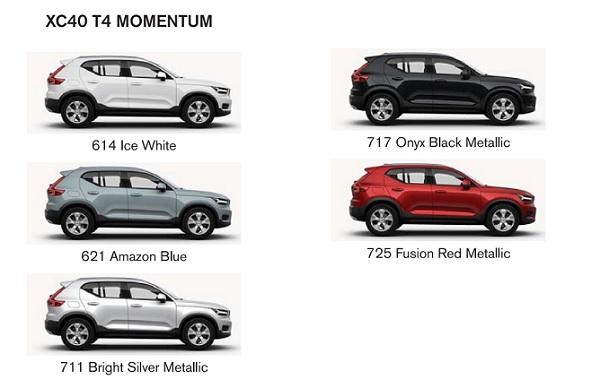 สีของตัวถัง The new Volvo XC40 (2019) รุ่น T4 MOMENTUM