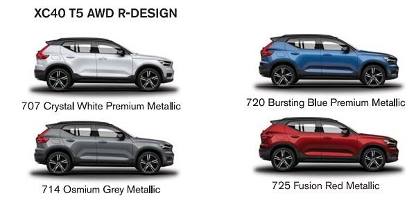 สีของตัวถัง The new Volvo XC40 (2019)   รุ่น T5 AWD R-DESIGN