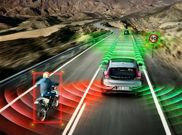 ระบบตรวจจับผู้ขับขี่จักรยานพร้อมฟังก์ชั่นหยุดรถแบบเต็ม แรงเบร
