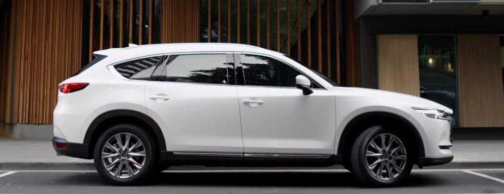 Mazda CX-8 (2019) รถยนต์อเนกประสงค์สไตล์สปอร์ตสุดหรูที่มาพร้อมกับขุมพลัง SKYACTIV-G 2.5 และระบบ GVC Plus ราคา  Mazda CX-8 (2019) เริ่มต้นที่ 1,031,000  บาท