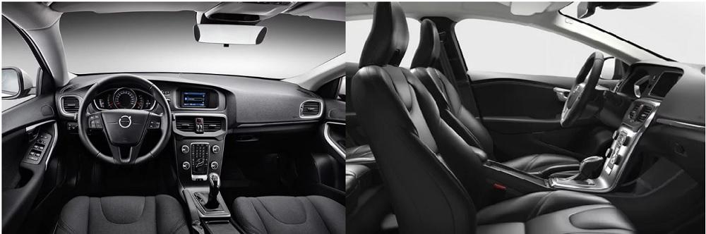 ภายในห้องโดยสาร Volvo V40 2019 ออกแบบและตกแต่งด้วยสไตล์สไตล์สแกนดิเนเวียน ออกแบบตามหลักสรีรศาสตร์ และใช้วัสดุตกแต่งที่มีคุณภาพระดับพรีเมียม