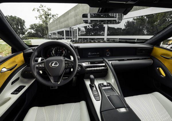 ดีไซน์ภายในรถยนต์ Lexus LC 500
