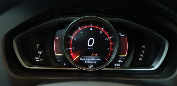 หน้าจอการแสดงผลของ Volvo V40