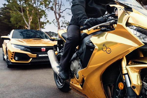 ตราสัญลักษณ์ฉลอง 50 ปี Honda ในแดนจิงโจ้ บนยานยนต์รุ่นเพิเศษ