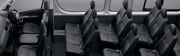 Toyota  Commuter 2019 รองรับผู้โดยสารได้ 16 ที่นั่ง