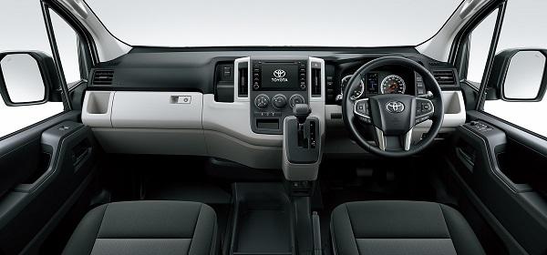 เปลี่ยนมุมมองการออกแบบภายในใหม่ใน Toyota Hiace 2019