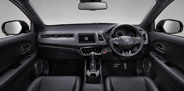 ห้องโดยสารภายในของ Honda HR-V