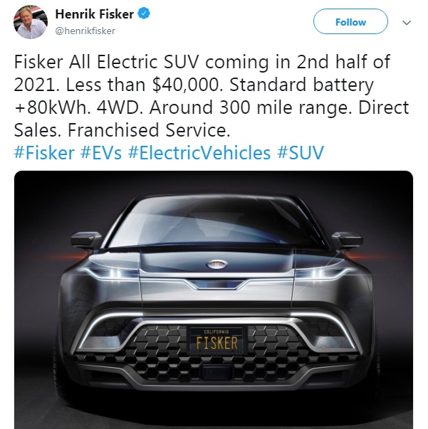 Henrik Fisker electric SUV