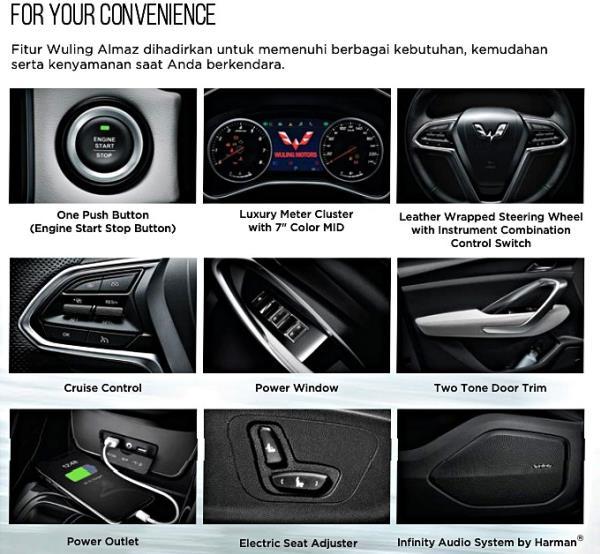 อุปกรณ์และฟังก์ชันการใช้งานภายในตัวรถ
