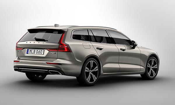 ด้านหลัง Volvo V60 2019