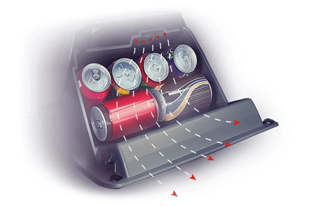 Ford Ecosport เติมเต็มทุกการเดินทางด้วยช่องเก็บของทำความเย็นที่มีการติดตั้งเอาไว้ในบริเวณคอนโซลหน้าฝั่งผู้โดยสาร
