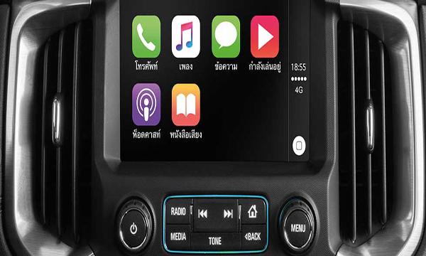 หน้าจอระบบสัมผัสขนาด 8 นิ้ว เชื่อมต่อ Apple Carplay