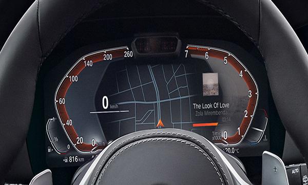 หน้าจอแสดงผลข้อมูลการขับขี่ขนาด 12.3 นิ้ว