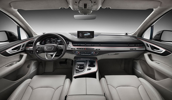 Audi Q7 ตกแต่งภายในด้วยโทนสีทูโทนครีม-ดำ