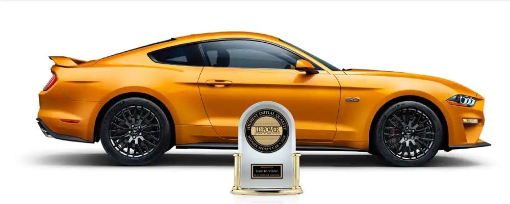 รางวัลรถสปอร์ตขนาดกลางที่มีคุณภาพมากที่สุดในปี 2018 สำหรับ Ford Mustang BULLITT 2019