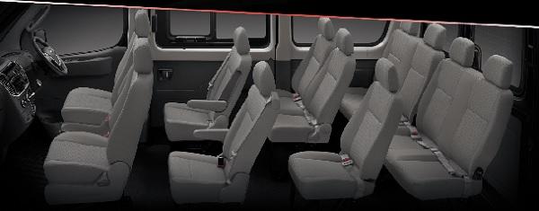 ภายในห้องโดยสาร NEW MG V80 Passenger Van