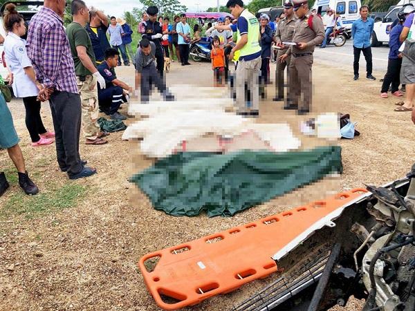 รถบรรทุก 6 ล้อประสานงารถกระบะ ดับคาที่ 6 ศพ บาดเจ็บ 3 ราย