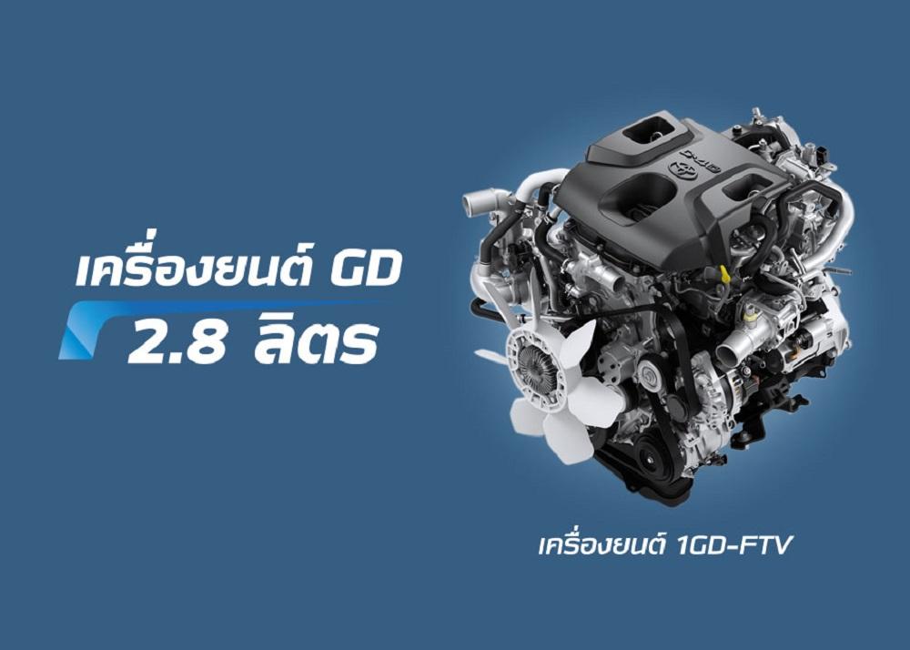 All New Toyota  Commuter 2019 มาพร้อมกับเครื่องยนต์ GD ขนาด 2.8 ลิตร ให้กำลังสูงสุด 163 แรงม้า ที่ 3,600 รอบต่อนาที แรงบิดสูงสุด 420 นิวตัน-เมตร ที่ 1,600-2,200 รอบต่อนาที