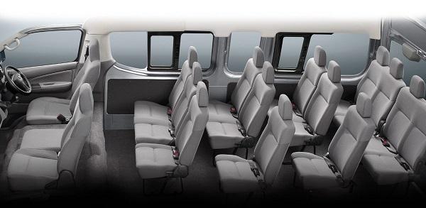 NISSAN URVAN 2019 สามารถรองรับผู้โดยสารได้มากถึง 16 ที่นั่ง