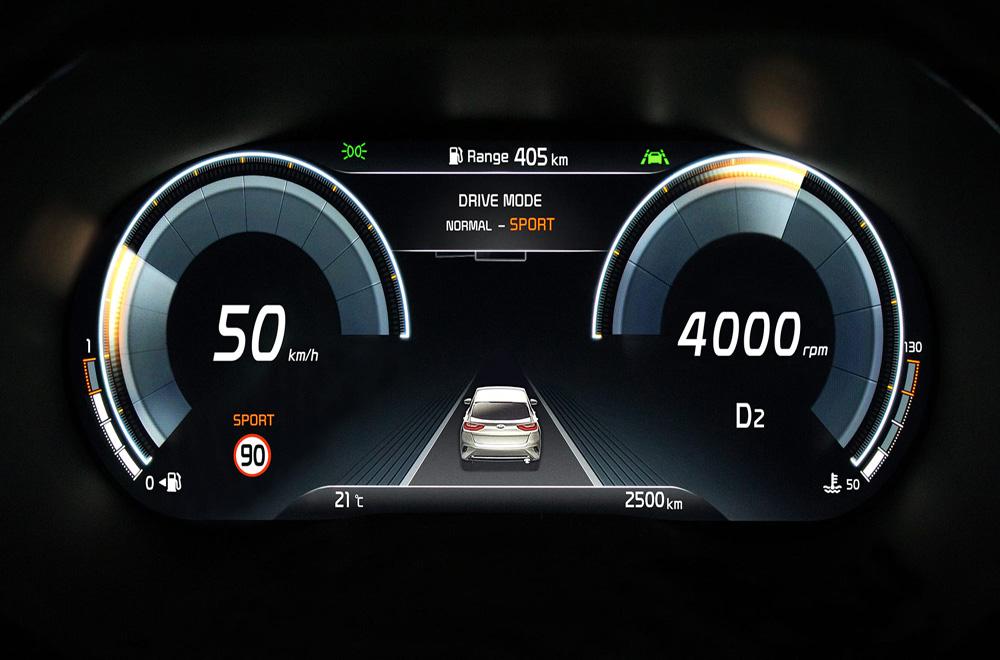 Kia Xceed 2020 ได้รับการติดตั้งหน้าจอแสดงผลการขับขี่ขนาด 12.3 นิ้ว แล้วยังมอบความบันเทิงผ่านหน้าจอระบบสัมผัสขนาด 8 นิ้ว หรือ 10.25 นิ้ว
