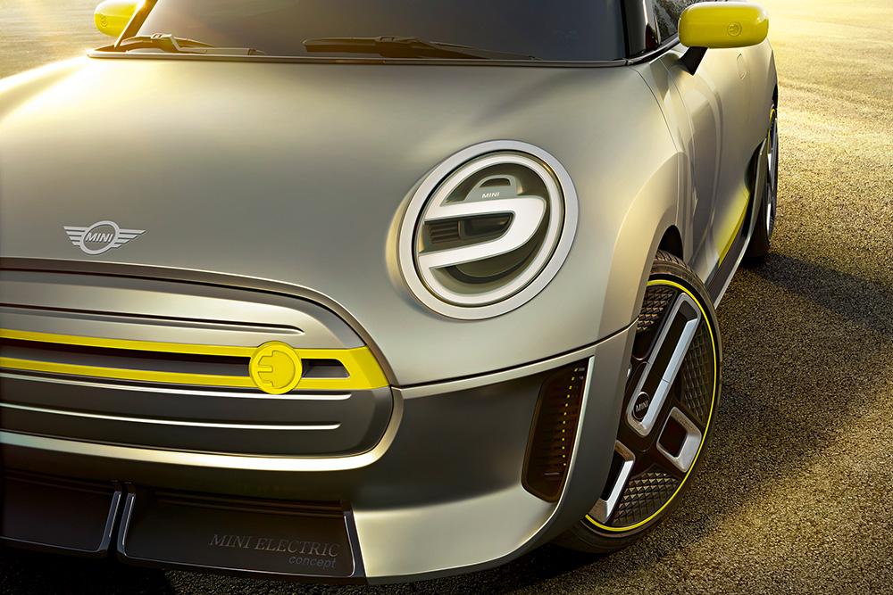 ภาพจำลองในส่วนหน้าของ MINI Cooper S E 2020