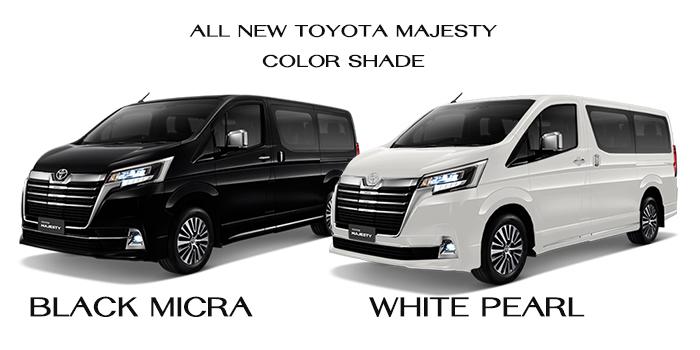 All New Majesty สีตัวถังภายนอก