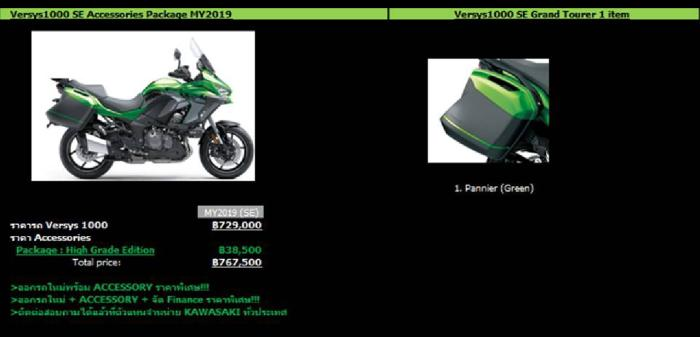 Versys 1000 SE Tourer Package