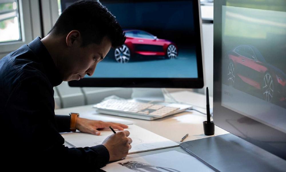 ทีมวิศกรเผยภาพขั้นตอนการร่างภาพของ  BMW Concept 4